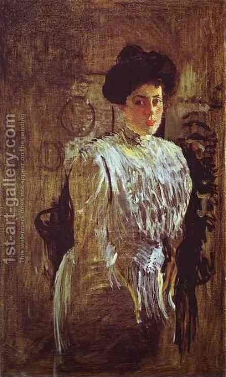 Portrait Of Margarita Morozova 1910 by Valentin Aleksandrovich Serov - Reproduction Oil Painting