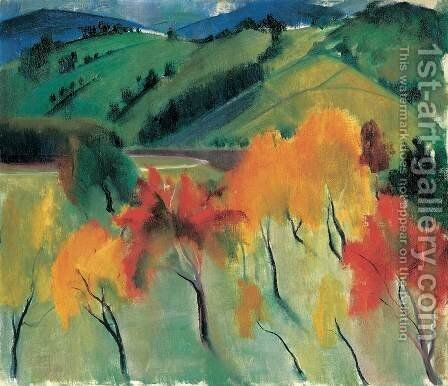 Autumn in Zebegeny by Istvan Desi-Huber - Reproduction Oil Painting