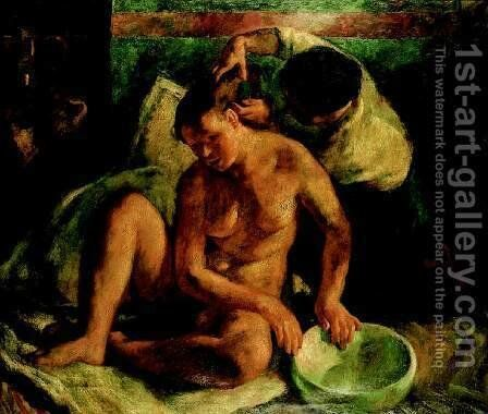 Bethsabe 1923 by Istvan Desi-Huber - Reproduction Oil Painting