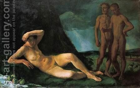 Composition with Nudes 1919 by Istvan Desi-Huber - Reproduction Oil Painting