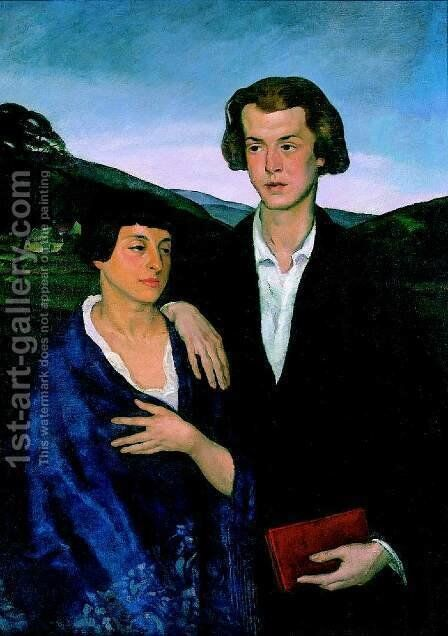 Double Portrait 1918 by Istvan Desi-Huber - Reproduction Oil Painting