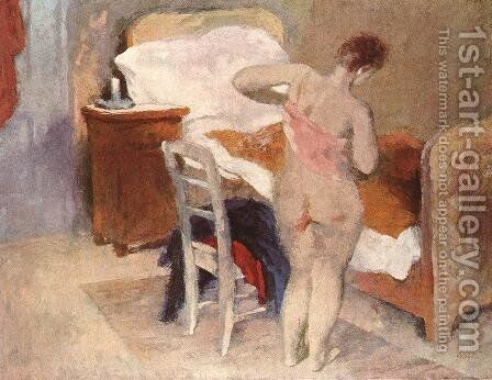 Morning 1946 by Istvan Desi-Huber - Reproduction Oil Painting