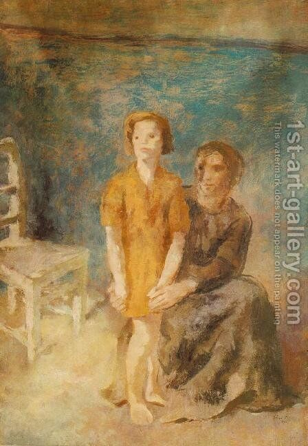Mother and Daughter 1944 by Istvan Desi-Huber - Reproduction Oil Painting