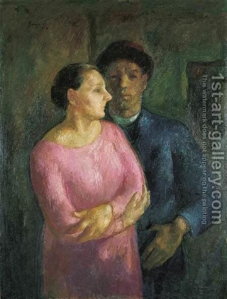 My Wife and I 1924 by Istvan Desi-Huber - Reproduction Oil Painting