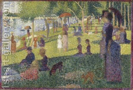 Study For A Sunday On La Grande Jatte 1884 by Georges Seurat - Reproduction Oil Painting