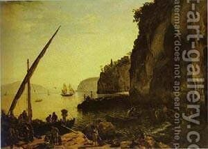 View Of Sorrento 1826 by Silvestr Fedosievich Shchedrin - Reproduction Oil Painting