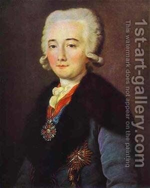 Portrait of Alexander Dmitryev Mamaonov 1780s by Mikhail Shibanov - Reproduction Oil Painting