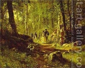 A Walk In The Forest 1869 by Ivan Shishkin - Reproduction Oil Painting