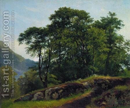 Beech Forest In Switzerland 1863 by Ivan Shishkin - Reproduction Oil Painting