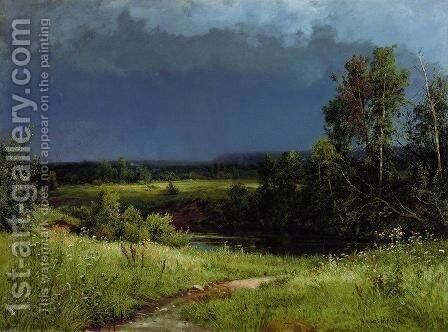 Gathering Storm 1884 by Ivan Shishkin - Reproduction Oil Painting