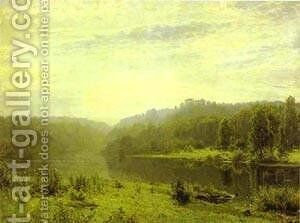 Misty Morning 1885 by Ivan Shishkin - Reproduction Oil Painting