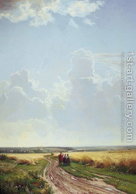 Noon In The Neighbourhood Of Moscow 1869 by Ivan Shishkin - Reproduction Oil Painting