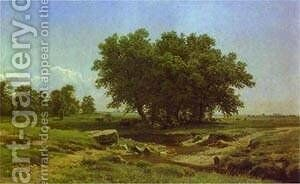 Oak Trees 1886 by Ivan Shishkin - Reproduction Oil Painting
