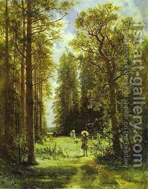 Path In A Forest 1880 by Ivan Shishkin - Reproduction Oil Painting