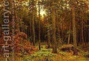 Pine Forest 1885 by Ivan Shishkin - Reproduction Oil Painting