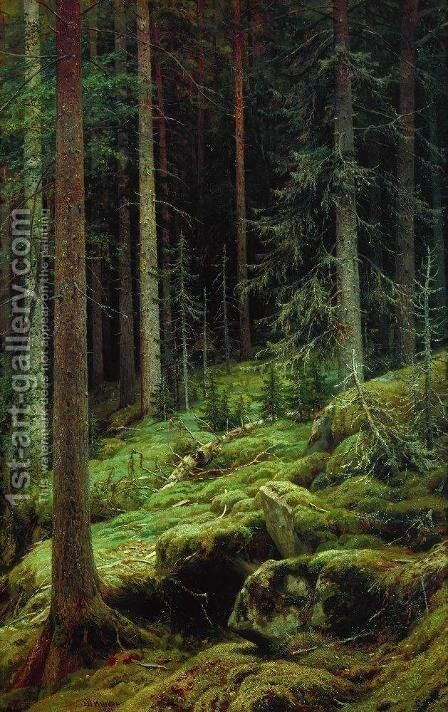 Thickets 1881 by Ivan Shishkin - Reproduction Oil Painting