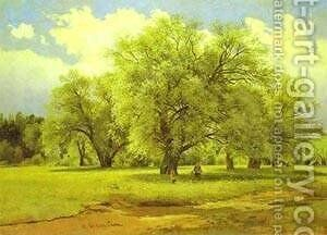 Willows Lit Up By The Sun 1860s-1870s by Ivan Shishkin - Reproduction Oil Painting