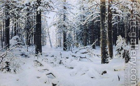 Winter 1890 by Ivan Shishkin - Reproduction Oil Painting