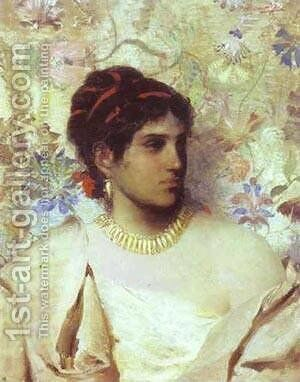 A Greek Woman 1877 by Henryk Hector Siemiradzki - Reproduction Oil Painting