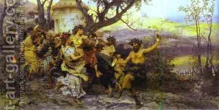Bacchanalia 1890 by Henryk Hector Siemiradzki - Reproduction Oil Painting