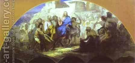 Entrance Of Christ Into Jerusalem 1876 by Henryk Hector Siemiradzki - Reproduction Oil Painting