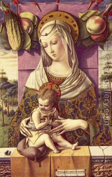 Madonna and Child ca 1480 by Carlo Crivelli - Reproduction Oil Painting
