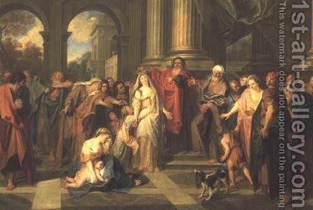 Susanna Accused of Adultery by Charles-Antoine Coypel - Reproduction Oil Painting