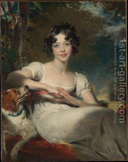 Lady Harriet Maria Conyngham Later Lady Somerville by Sir Thomas Lawrence - Reproduction Oil Painting
