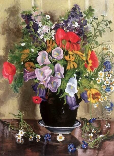 Flower Still-life 1953 by George Loftus Noyes - Reproduction Oil Painting