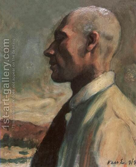 Self portrait 1919 by Dezso Kormiss - Reproduction Oil Painting