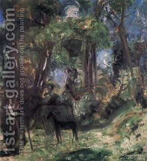 Forest Scene with Colt 1940 by Karl Briullov - Reproduction Oil Painting