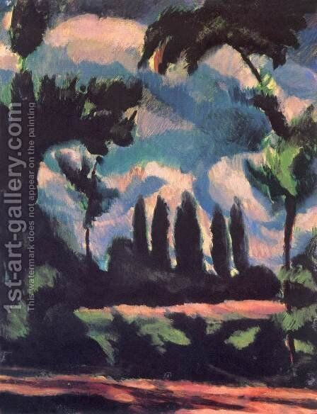 Trees 1916 by Bela Kondor - Reproduction Oil Painting