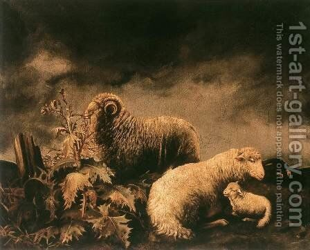 Sheeps by Bela Pallik - Reproduction Oil Painting