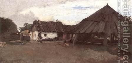The Dry Mill at Atyas by Bela Pallik - Reproduction Oil Painting