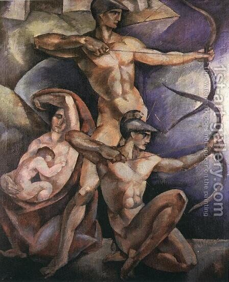 Archers 1920 by Emile Fabry - Reproduction Oil Painting