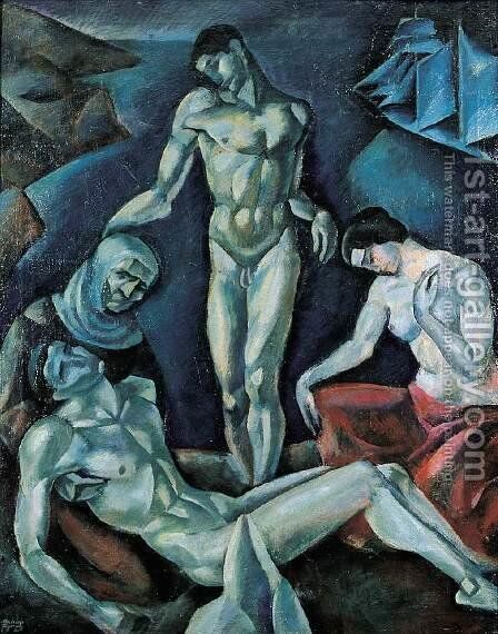 Lamentation 1921 by Emile Fabry - Reproduction Oil Painting