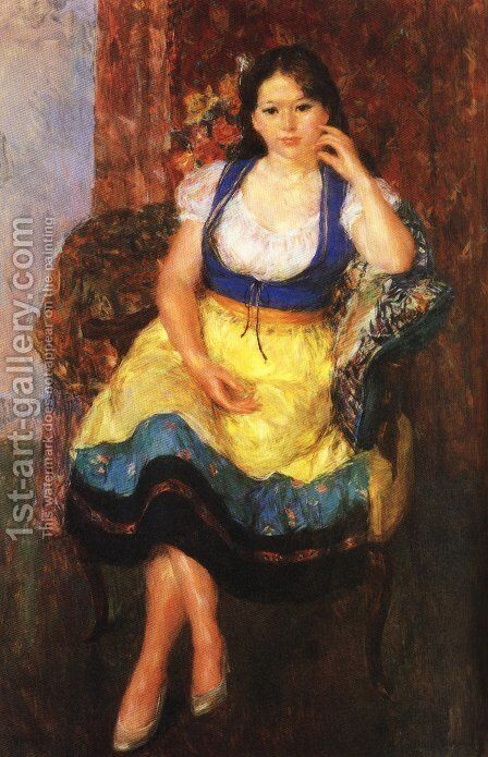 Japanese Picture 042 by Bertalan Por - Reproduction Oil Painting