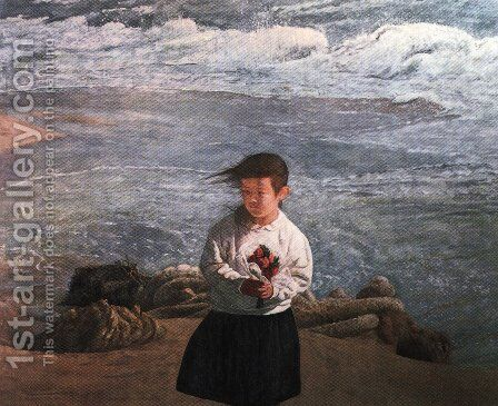Japanese Picture 065 by Bertalan Por - Reproduction Oil Painting