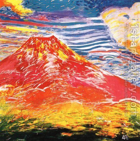 Japanese Picture 071 by Bertalan Por - Reproduction Oil Painting