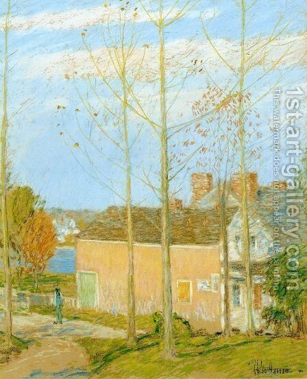 The Barn, Cos Cob by Frederick Childe Hassam - Reproduction Oil Painting