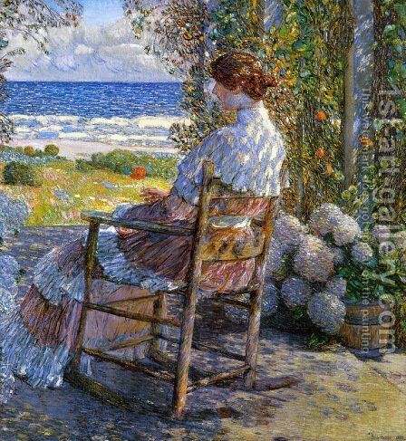The Sea by Frederick Childe Hassam - Reproduction Oil Painting