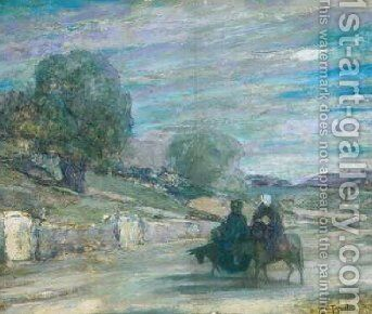 Flight into Egypt 1921 by Henry Ossawa Tanner - Reproduction Oil Painting