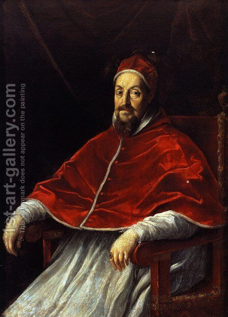 Portrait of Pope Gregory XV by Guido Reni - Reproduction Oil Painting