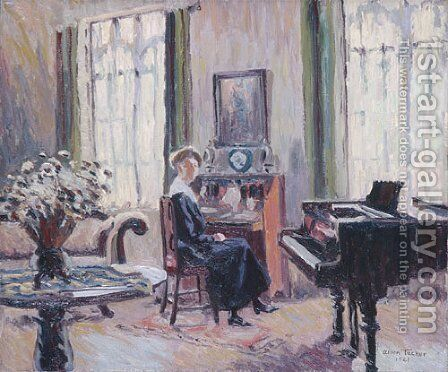 Interior 1921 by Allen Tucker - Reproduction Oil Painting