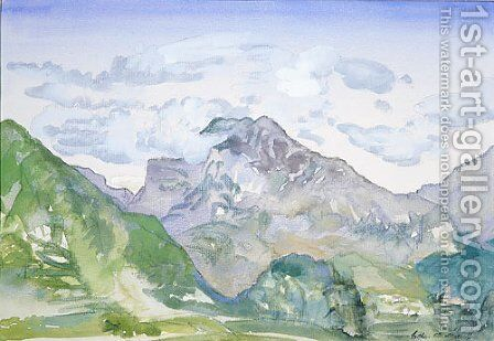 Mountains by Arthur Bowen Davies - Reproduction Oil Painting