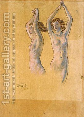 Nude Studies by Arthur Bowen Davies - Reproduction Oil Painting