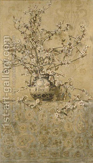 Apple Blossoms 1889 by Charles Caryl Coleman - Reproduction Oil Painting