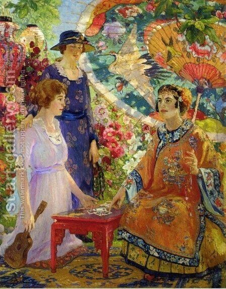 Fortune Teller by Colin Campbell Cooper - Reproduction Oil Painting