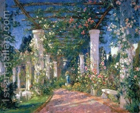 Pergola at the Hotel Samarkand Santa Barbara by Colin Campbell Cooper - Reproduction Oil Painting