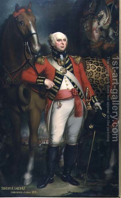 Portrait of Sir John Eamer Lord Mayor of London 1801 by Mather Brown - Reproduction Oil Painting